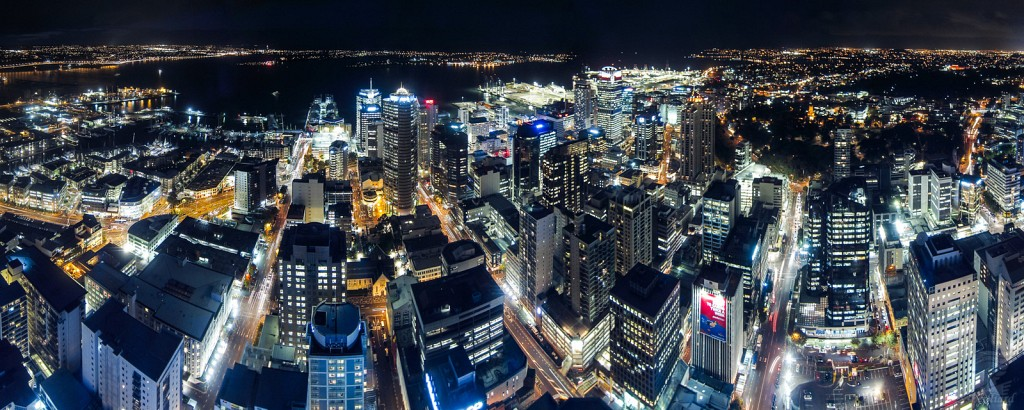 Auckland Central District at night
