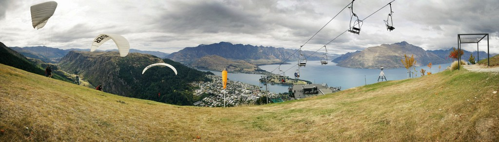 Queenstown : Paragliding pano