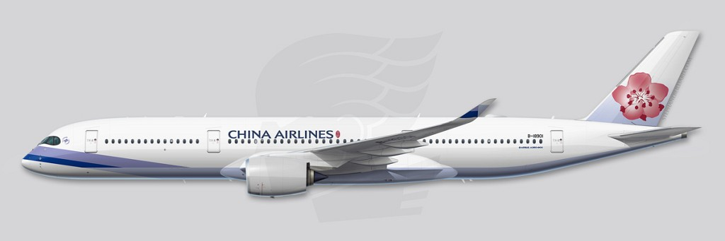 A350 Profile Illustration - China Airlines