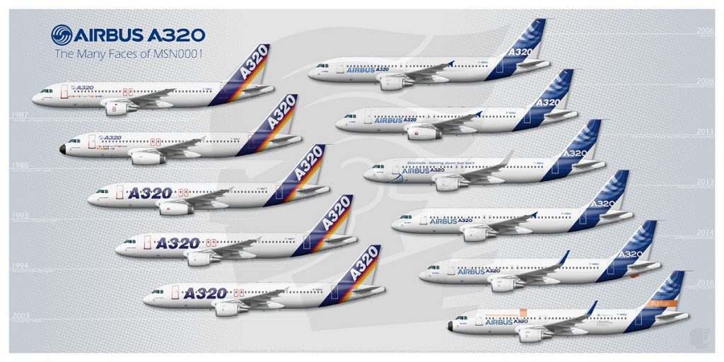 The Many Faces of A320 MSN0001