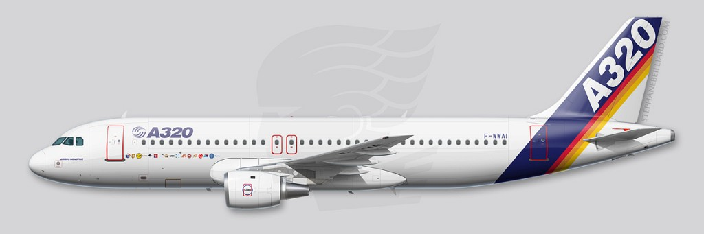 Airbus A320 profile - MSN1 1987
