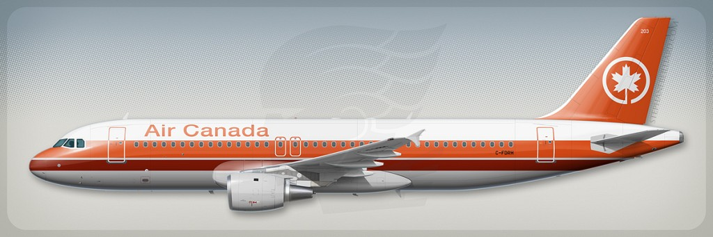 Airbus A320 profile - Air Canada