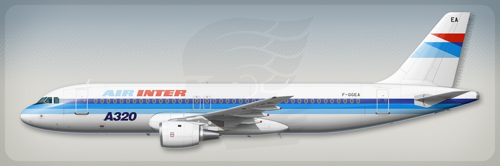 Airbus A320 profile - Air Inter