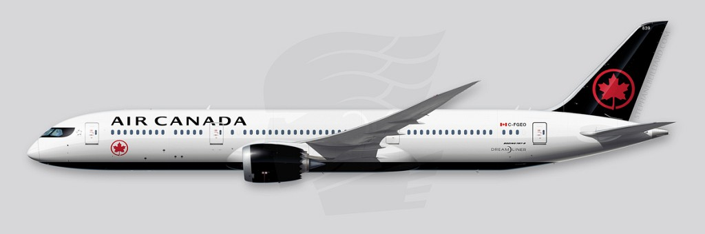 Boeing 787 Illustration - Air Canada