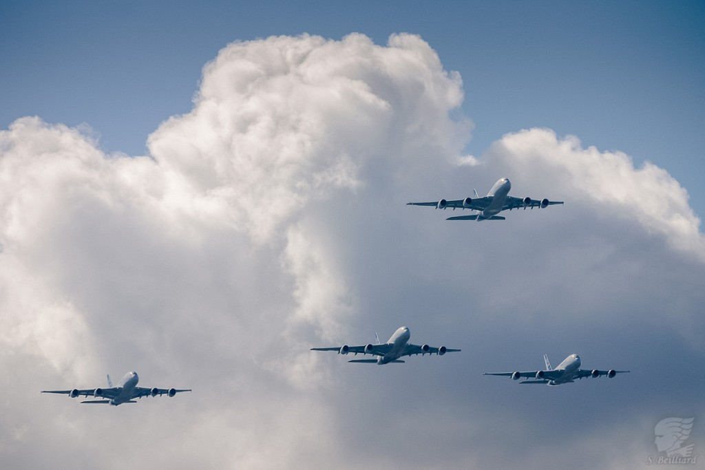 Airbus A380 Formation Flight