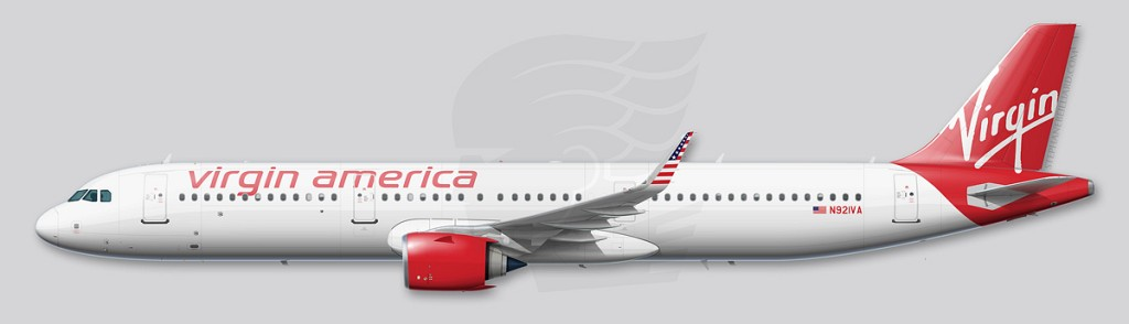 Airbus A321neo profile - Virgin America