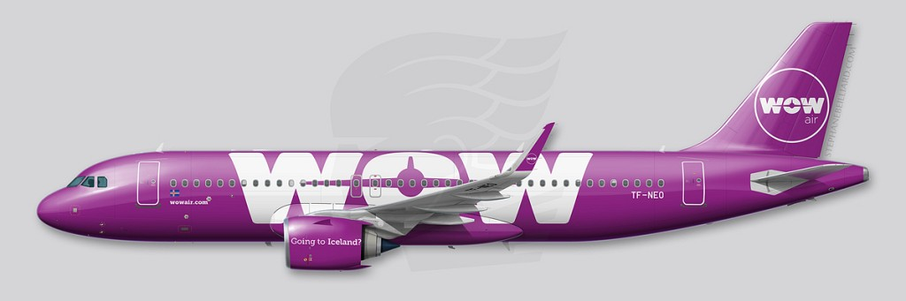 Airbus A320neo profile - WOW air