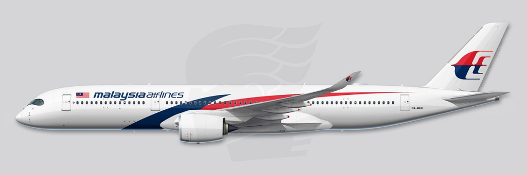 A350 Profile Illustration - Malaysia Airlines
