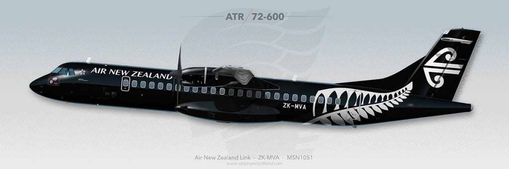 ATR72 Profile Illustration - Air New Zealand