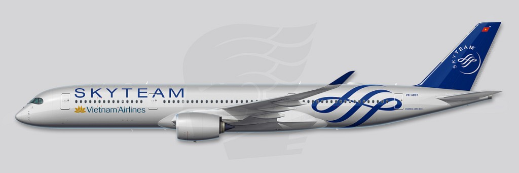 A350 Profile Illustration - Skyteam