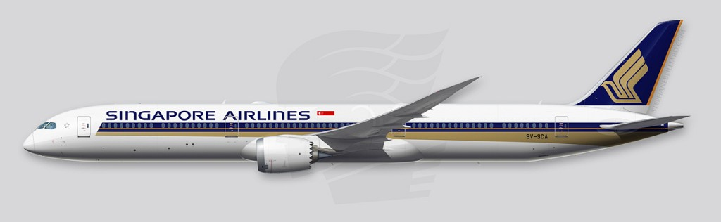 Boeing 787-10 Illustration - Singapore Airlines
